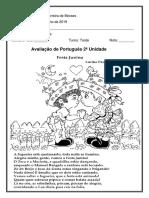 Avaliação de Português 3º ano 2019