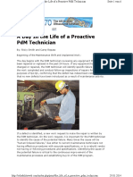 A Day in the Life of a Proactive PdM Technician