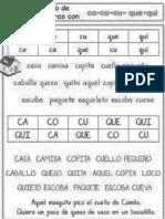 Fichas de Trabajo CA,Co,Cu,Que,Qui
