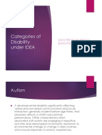 Categories of Disability Under IDEA