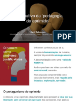 Justificativa Da 'Pedagogia Do Oprimido' - Seminário Mídia e Segregação