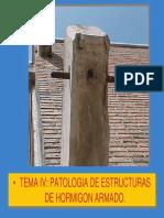PATOLOGÍAS DE ESTRUCTURAS DE HORMIGÓN ARMADO