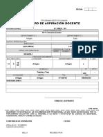 formulario aspiraciones docentes UTU