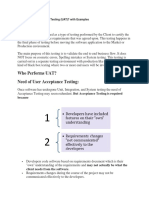 What is User Acceptance Testing