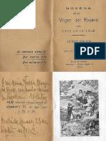 Novena Virgen Rosario Cruz de La Cruz 1934