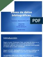 Bases de datos bibliográficas