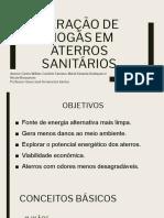 Geração de Biogás Em Aterros Sanitários