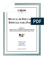 Manual de Escuela para Padres en Educación Especial