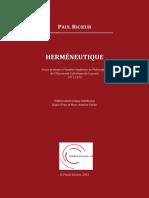 Hermeneutique Cours de Louvain Introduction