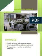 Contratación y Desarrollo de Los Servicios de Banquetes