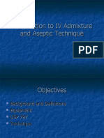 IV Admixture and Aseptic Technique