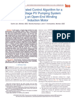 An Integrated Control Algorithm for a Single-Stage PV Pumping System Using an Open-End Winding Induction Motor