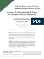Evaluación Del Riesgo de Reincidencia en Menores Infractores_herramientas Para La Mejora de Estrategias Reeducativas en España