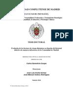 Evolución de Los Factores de Riesgo Dinámicos en Función Del Historial Delictivo de Menores Infractores de La Comunidad de Madrid