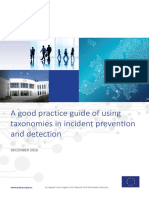 A good practice guide of usin taxonomies in incident prevention and detection