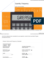 Calculating Grease Quantity, Frequency