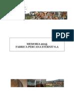 memoria de fabrica peruana Eternit