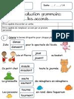 Evaluation grammaire
