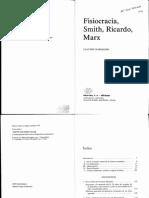 Claudio Napoleoni_Fisiocracia, Smith, Ricardo y Marx