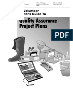 Guide to quality assurance plans