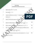 11 Mathematics Binomial Theorem Test 01