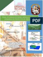 Eficiencia de Riego, Módulo de Riego, Demanda en Proyectos de Irrigación