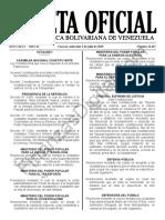 Gaceta Oficial 41667 Sumario