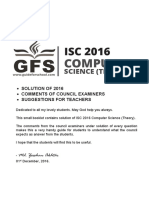 ISC 2016 Computer Science Theory Paper 1 Solved Paper