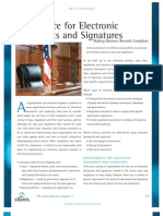 Compliance for Electronic Documents Signatures
