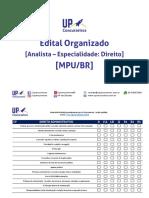 Edital Sistematizado - Concurso MPU Analista