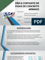DISEÑO A CORTANTE DE VIGAS DE CONCRETO ARMADO