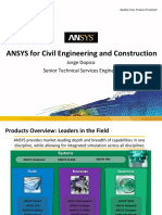 ANSYS for Civil Engineering - Presentation