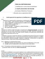 Extras Metodologie 2019 Licență IFR