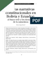 Nuevas narrativas constitucionales en Bolivia y Ecuador
