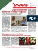 Diario Granma. 9 de julio de 2019.