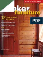 Fine Woodworking Specials - Shaker Furniture Spring 2018