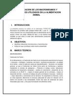 Identificacion de Los Macroinsumos y Microinsumos Utilizados en La Laimentacion