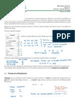 2. Conteo, Principio de La Multiplicación, Principio de Suma