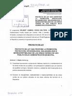 Proyecto de Ley 4233/2018 para garantizar la promoción, protección, intangibilidad, inalienabilidad e imprescriptibilidad de las áreas verdes de uso público bajo administración municipal