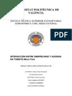 JIMÉNEZ - Interacción Entre Giberelinas y Auxinas en Tomate Micro Tom