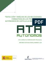 15 Necesidades Formativas de Los Trabajadores Autonomos de Castilla-La Mancha