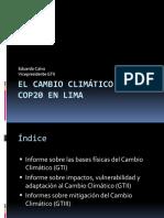 El Cambio Climático y La Cop20 en Lima