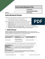 IT Project Quality Management Plan