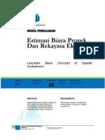 Modul 10_EstimasiBiaya & Rekayasa Ekonomi_Ali Sunandar