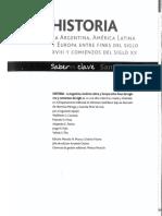 Historia Argentina, América Latina y Europa Entre Fines Del S XVIII y Comienzos Del XX- Santillana