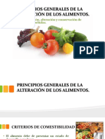 Principios Generales de La Alteración de Los Alimentos