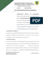 Denuncia Penal Falcedad Ideologia Marco Quispe