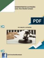 Apostila Licitação online - Ana Cláudia