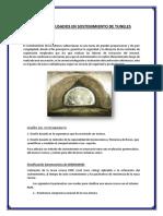 Elementos Usados en Sostenimiento de Tuneles