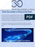 High-Speed Internet Accessibility in Rural Area